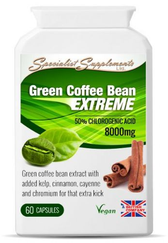 Green Coffee Bean Extreme Capsules-8000mg With 50% Chlorogenic Acid